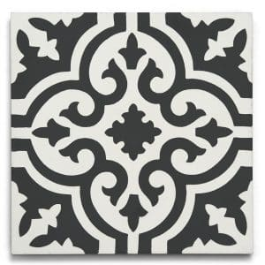 8x8 square 'Manchester' encaustic cement tile , 5/8 inch thick, 5.28 square feet per box (12 tiles in each box)