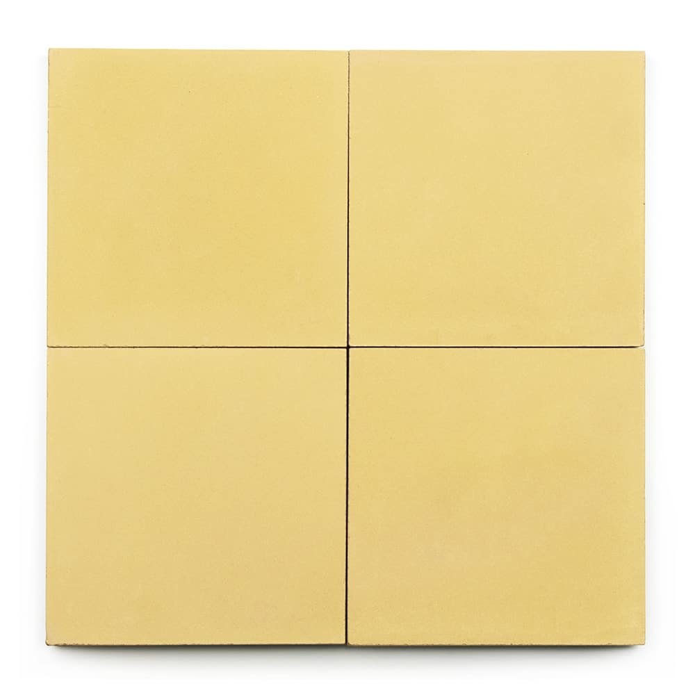 8x8 square 'Blonde' encaustic cement tile , 5/8 inch thick, 5.28 square feet per box (12 tiles in each box)