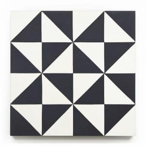 8x8 square 'Cerritos' encaustic cement tile , 5/8 inch thick, 5.28 square feet per box (12 tiles in each box)
