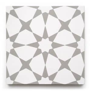 8x8 square 'Tunis' encaustic cement tile , 5/8 inch thick, 5.28 square feet per box (12 tiles in each box)