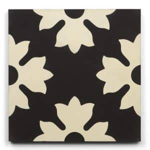 8x8 square 'astor' encaustic cement tile , 5/8 inch thick, 5.28 square feet per box (12 tiles in each box)