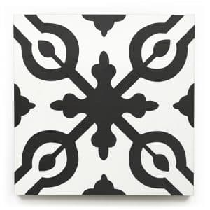 8x8 square 'Greenwich' encaustic cement tile , 5/8 inch thick, 5.28 square feet per box (12 tiles in each box)