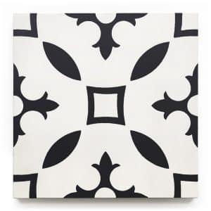 8x8 square 'Normandy' encaustic cement tile , 5/8 inch thick, 5.28 square feet per box (12 tiles in each box)