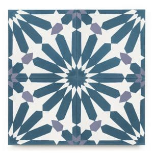8x8 square 'sevilla' encaustic cement tile , 5/8 inch thick, 5.28 square feet per box (12 tiles in each box)