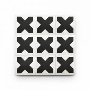 4x4 square 'Axis' encaustic cement tile , 5/8 inch thick, 5.28 square feet per box (48 tiles in each box)