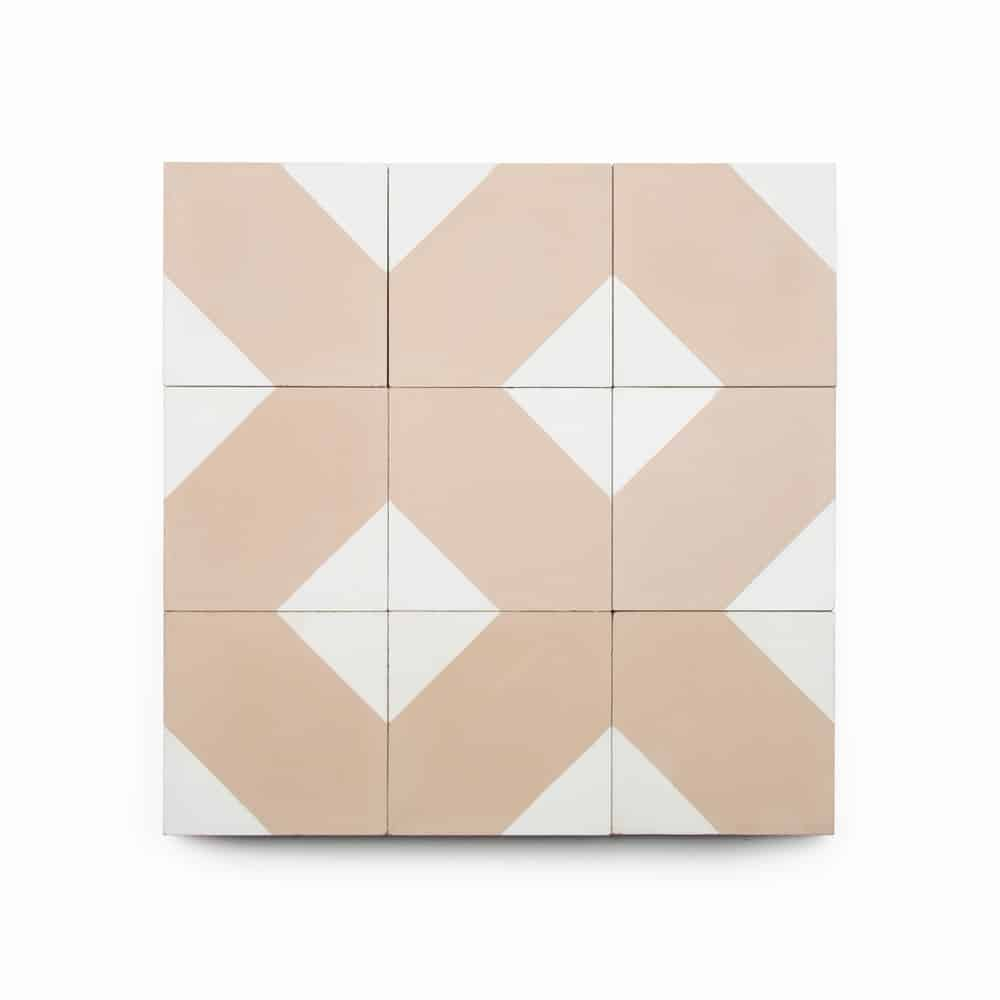4x4 square 'Bishop' encaustic cement tile , 5/8 inch thick, 5.28 square feet per box (48 tiles in each box)