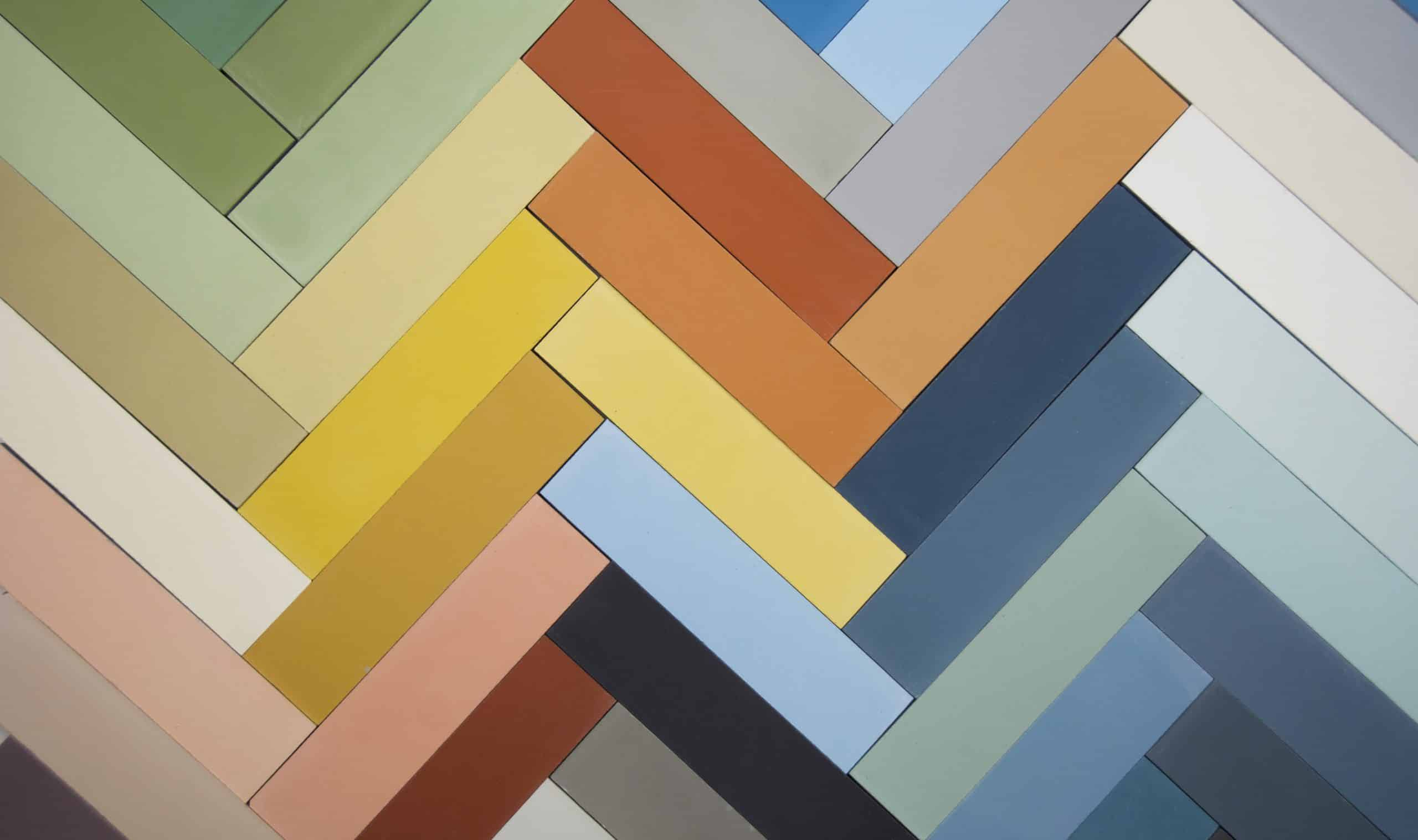 Solid 2x8 encaustic cement subway tile in wide color range from Zia Tile