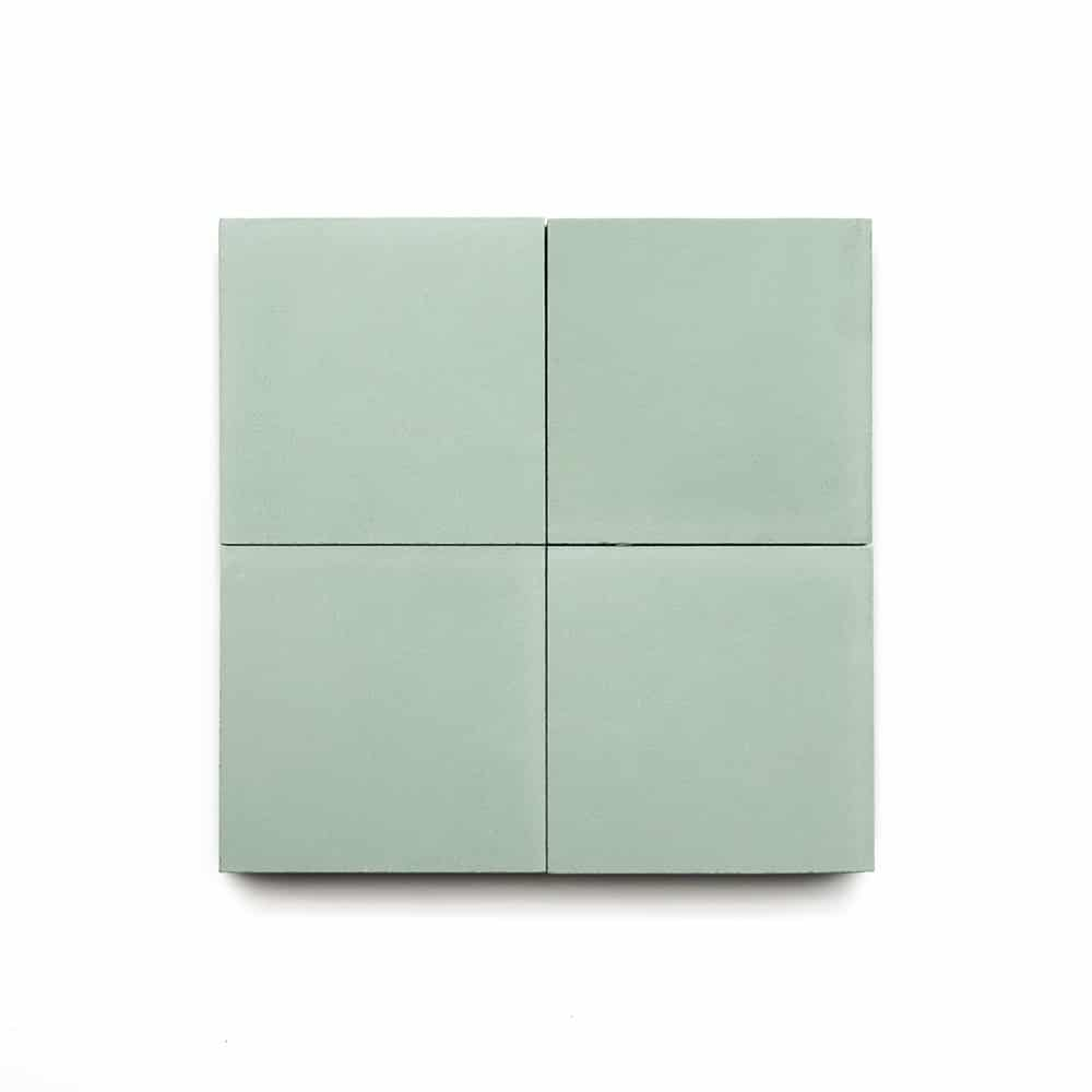 4x4 square 'Mint' encaustic cement tile , 5/8 inch thick, 5.28 square feet per box (48 tiles in each box)