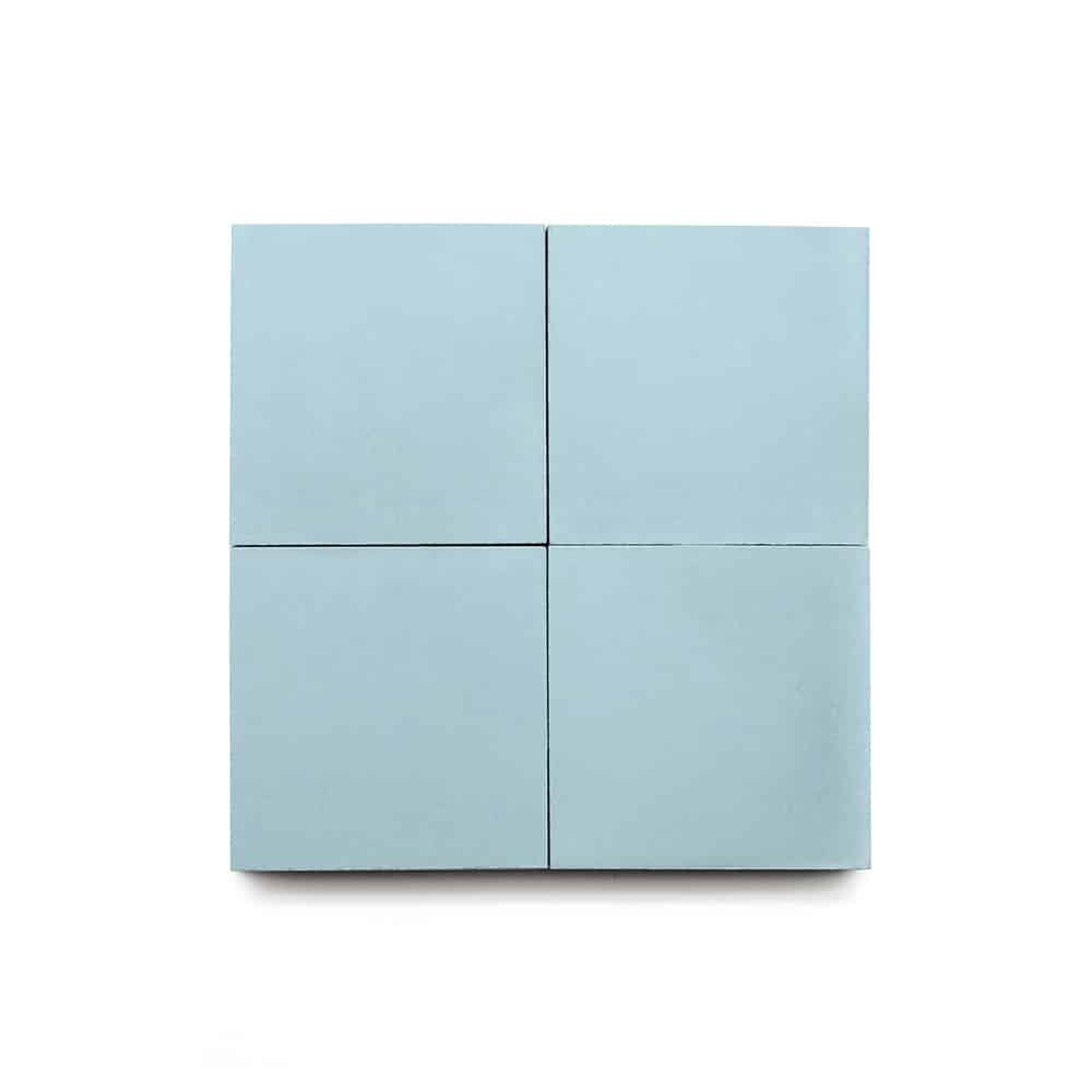4x4 square 'Sky' encaustic cement tile , 5/8 inch thick, 5.28 square feet per box (48 tiles in each box)