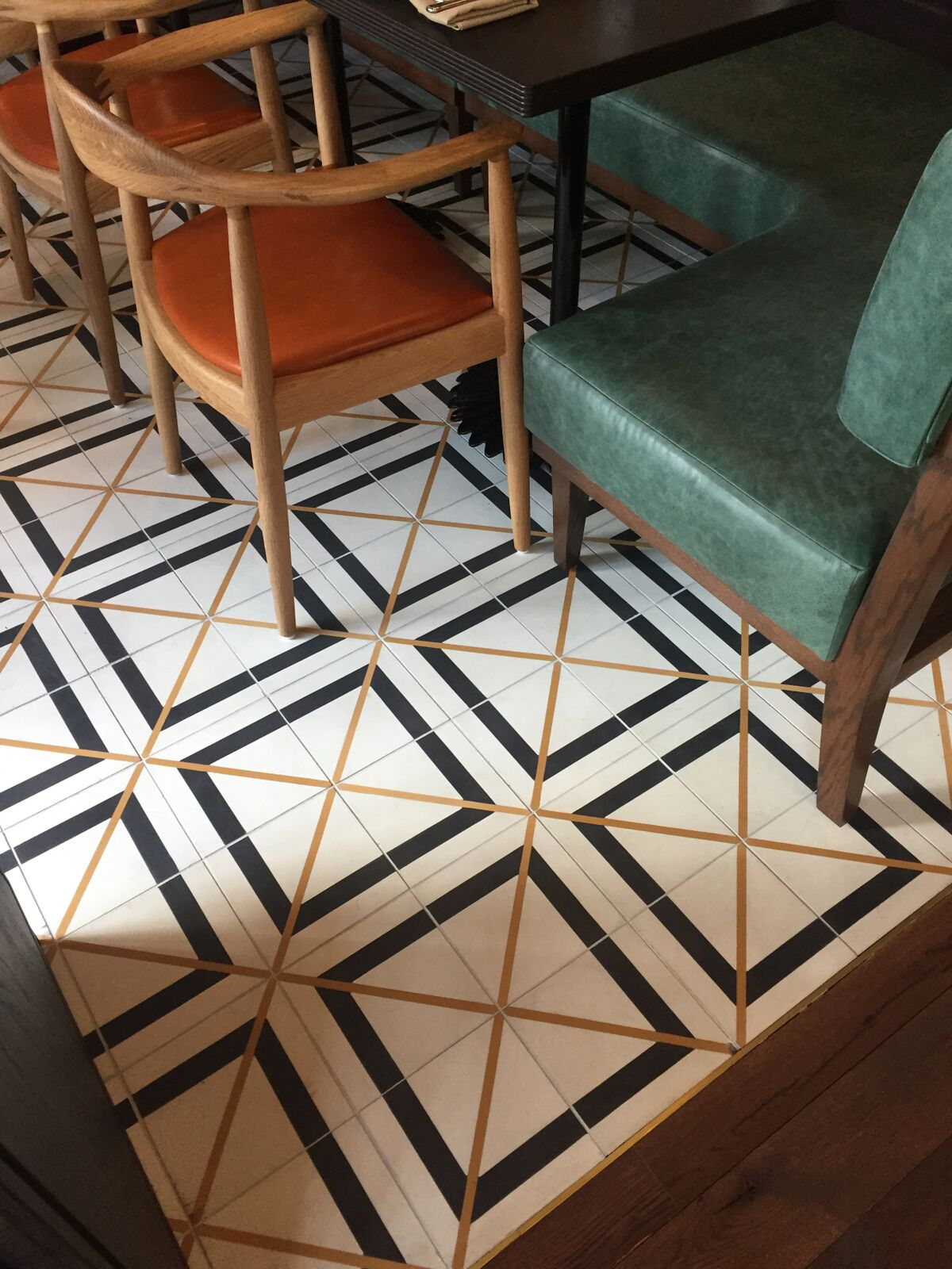 Brixton encaustic cement tile at the Hoxton Hotel in Portland