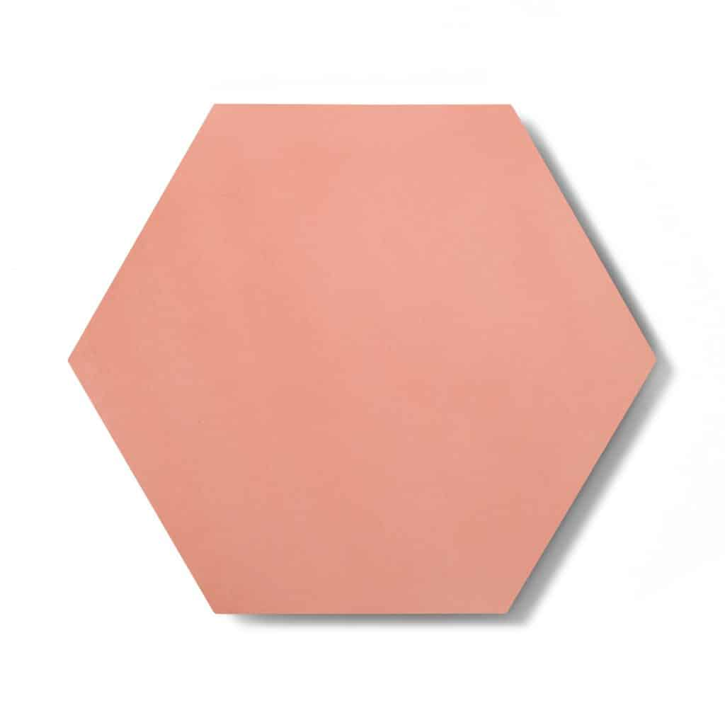 8x9 'Delta Moon' solid color hexagonal encaustic cement tile , 5/8 inch thick, 4.4 square feet per box (12 tiles in each box)