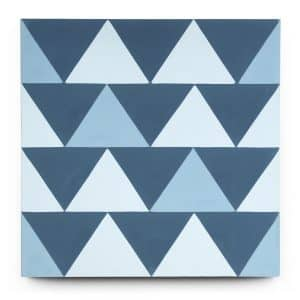 8x8 square 'Go West!' encaustic cement tile , 5/8 inch thick, 5.28 square feet per box (12 tiles in each box)