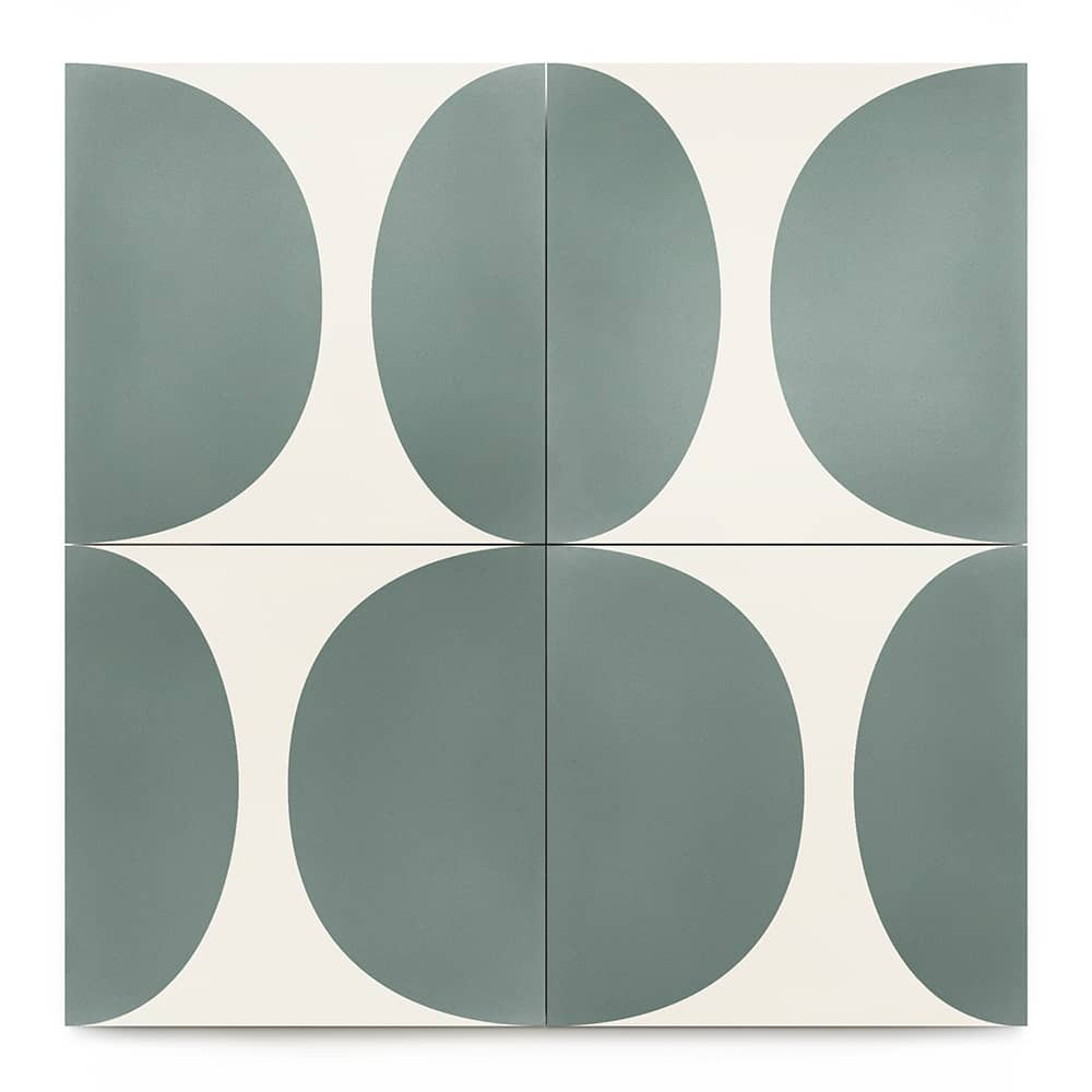 8x8 square 'Pomelo' encaustic cement tile , 5/8 inch thick, 5.28 square feet per box (12 tiles in each box)