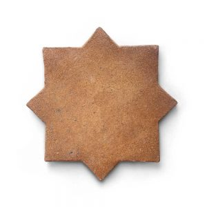 6x6 'Stars & Cross' Cotto terracotta tile, 5/8 inch thick, 3.39 square feet per box (14 tiles in each box)