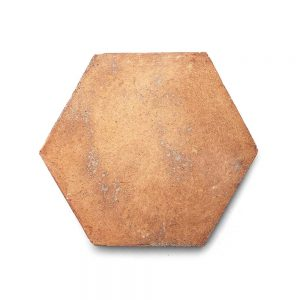 8x9 'Hex' Cotto terracotta tile, 5/8 inch thick, 5.17 square feet per box (12 tiles in each box)