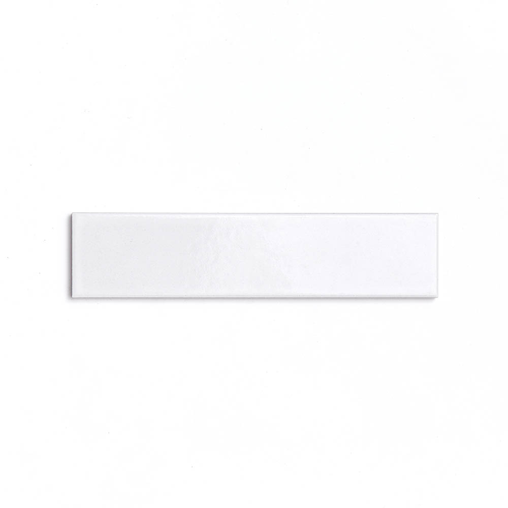 2x8 subway 'Alabaster' high fired ceramic tile, 3/8 inch thick, 16.67 square feet per box (150 tiles in each box)
