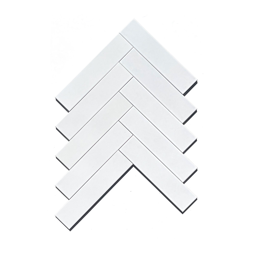 2x8 subway 'Alpha White' high fired ceramic tile, 3/8 inch thick, 16.67 square feet per box (150 tiles in each box)