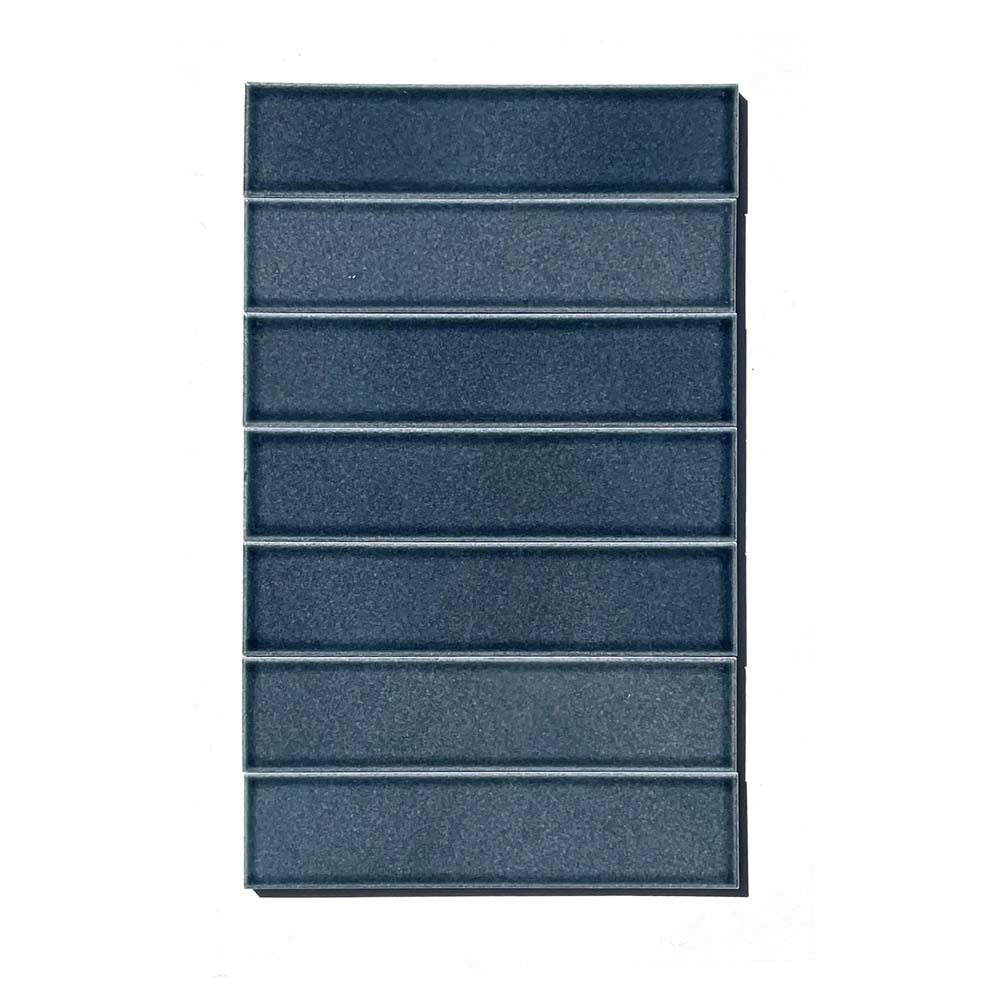 2x8 subway 'Ethereal Blue' high fired ceramic tile, 3/8 inch thick, 16.67 square feet per box (150 tiles in each box)