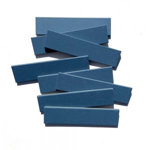 2x8 subway 'Iconic Blue' high fired ceramic tile, 3/8 inch thick, 16.67 square feet per box (150 tiles in each box)