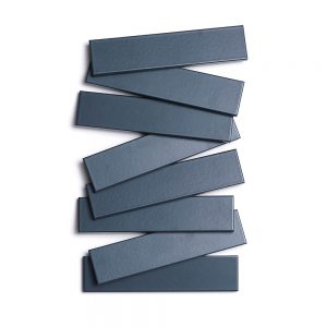 2x8 subway 'Pacific Blue' high fired ceramic tile, 3/8 inch thick, 16.67 square feet per box (150 tiles in each box)