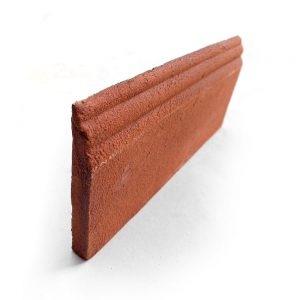 4x8 'Base Molding' Cotto terracotta tile, 5/8 inch thick, sold in linear feet